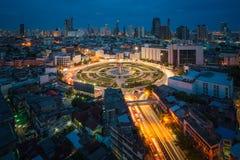 Wongwian Yai, cityscape of Thailand stock photography