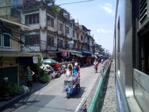 Wongwian Yai Railway Station. Royalty Free Stock Image