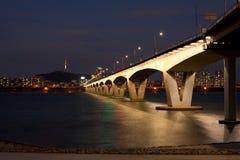 Wonhyo Bridge Namsan Tower Stock Photos