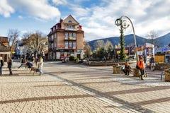 Woning die door Franciszek Smeja in Zakopane wordt gebouwd Stock Afbeelding