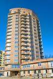 Woningbouw in aanbouw Stock Foto's