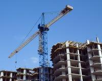 Woningbouw in aanbouw Stock Foto