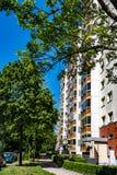 Woningbouw in Berlin Marzahn, Duitsland stock afbeelding