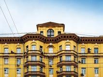 Woningbouw met meerdere verdiepingen Stock Foto's