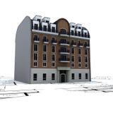 Woningbouw op plannen Stock Fotografie
