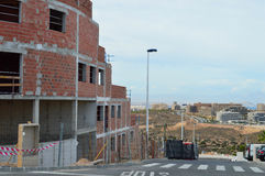 Woningbouw in Santa Pola Royalty-vrije Stock Afbeeldingen