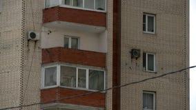 Woningbouwvideo met meerdere verdiepingen stock videobeelden