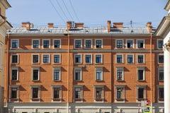 Woningbouwvoorzijde Stock Foto's