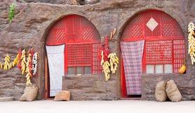 Woningen in het Loess plateau van China royalty-vrije stock foto