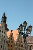 Woningen in Wroclaw royalty-vrije stock foto