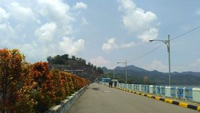 Wonorejo Reservoir Tulungagung East Java. Wonorejo Reservoir is one of the largest reservoirs in southeast asia. Located in the village Wonorejo district Stock Image