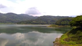 Wonorejo Reservoir Tulungagung Indonesia. Wonorejo Reservoir is one of the largest reservoirs in southeast asia. Located in the village Wonorejo district Royalty Free Stock Photos