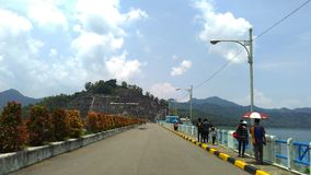 Wonorejo Reservoir Tulungagung. Wonorejo Reservoir is one of the largest reservoirs in southeast asia. Located in the village Wonorejo district Pagerwojo Stock Photo