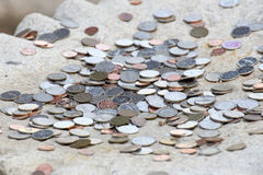 Wons coins stock image