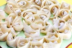 Wonton, Chiński jedzenie Fotografia Stock