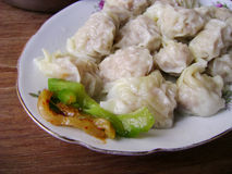 Cantonese food steam dumplings wonton Royalty Free Stock Photos