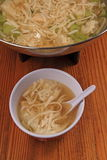 wonton de potage Photos stock