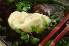 Wonton dumpling Stock Photo