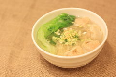 Wonton noodle with shrimps Royalty Free Stock Photos