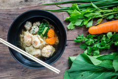 Wonton noodle Stock Photography