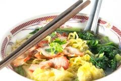 Wonton and noodle for traditonal gourmet dumpling Stock Photo