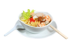 Wonton Noodles Royalty Free Stock Photography