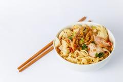 Wonton noodles Royalty Free Stock Images