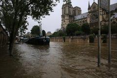 Wonton rzeczna powódź w Paryż na Czerwu 02, 2016 Fotografia Royalty Free