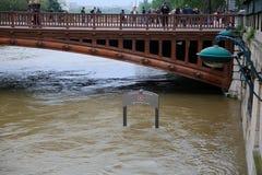 Wonton rzeczna powódź w Paryż na Czerwu 02, 2016 Obraz Stock