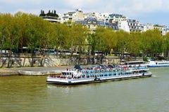 Wonton rzeka w Paryż, Francja Fotografia Royalty Free