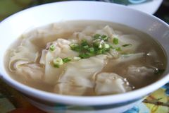 Wonton soup Royalty Free Stock Image