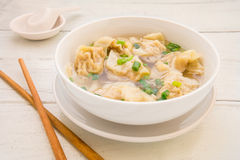 Wonton soup, Chinese food Stock Photography