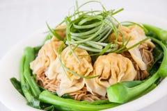 Wonton soup. Popular dish from Chinese cuisine. Wonton soup stock image
