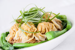 Wonton soup. Popular dish from Chinese cuisine. Wonton soup royalty free stock photo