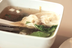 Wonton Soup Stock Photo