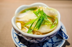 Wonton soup Stock Images