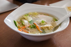Wonton soup Royalty Free Stock Photo