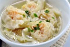 Wonton soup Royalty Free Stock Images