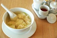 Wonton soup Stock Image