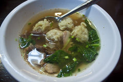 Wonton soup. Traditional chinese food stock images