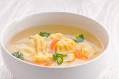 Wonton Soup with Vegetables Royalty Free Stock Photos