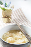 Wonton-Suppe Stockfotografie