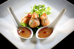 Wonton with sweet and sour sauce Stock Photography
