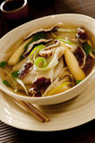 Wonton and Vegetable Soup Royalty Free Stock Photography