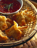 Wontons stock photography