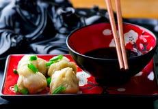 Wontons Cucina cinese Immagine Stock