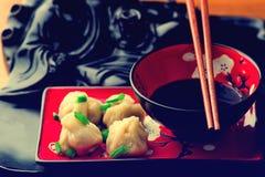 Wontons Cucina cinese Fotografia Stock Libera da Diritti
