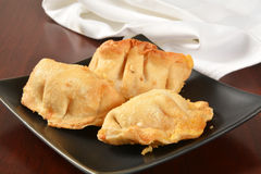 Wontons stuffed with cream cheese Stock Photography