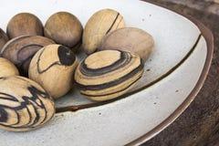 Wood ägg Fotografering för Bildbyråer