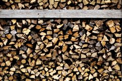 Wood. Drying in a stack for fire Royalty Free Stock Photo